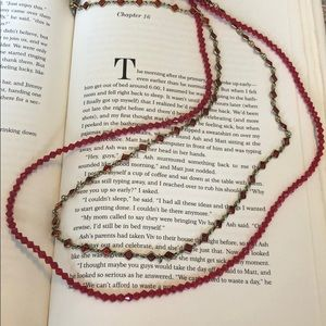 Sorrelli Red Crystal Multi Strand Necklace